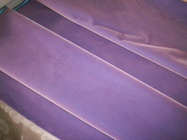 Antique Silk Velvet Old Store Stock in Amethyst Yardage available French Milinery Upholstery Dolls Victorian