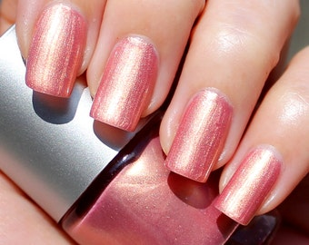 Golden Rose Franken Nail Polish - Dusty pink with intense golden reflections