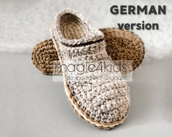 Crochet Pattern Men Basic Clogs With Rope Solessoles Pattern Etsy