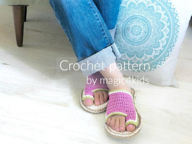 6099e0a2f42a57 Crochet pattern flip-flops with rope solessoles pattern