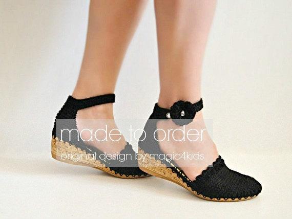 Chinese Vintage Decorative Pattern Women Wedge Heels Sandals