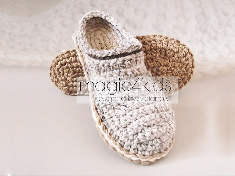 Crochet pattern men basic clogs with rope solessoles pattern image 0