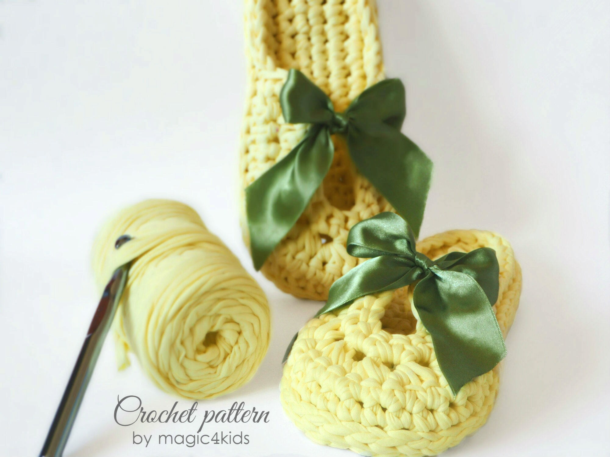 Crochet Pattern Women T Shirt Yarn Slippersall Etsy