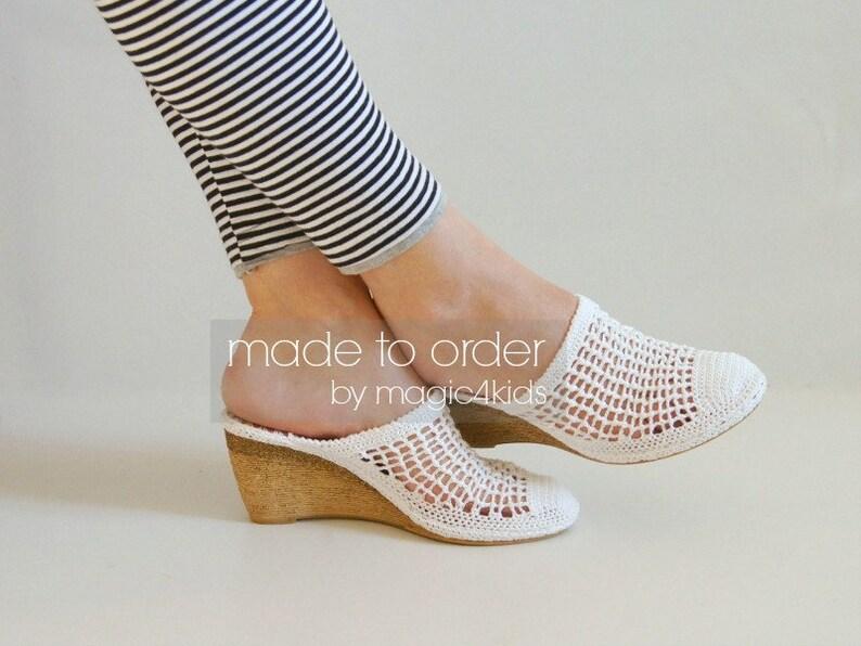 60ec2f30e Crochet wedge sandals women crochet sandals made to order