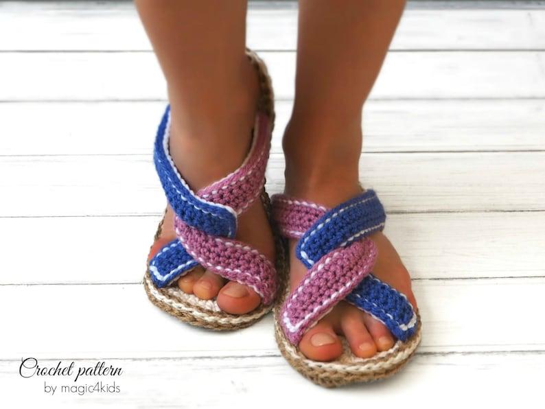 48b1863c75d69 Crochet pattern women flip-flops with rope solessoles