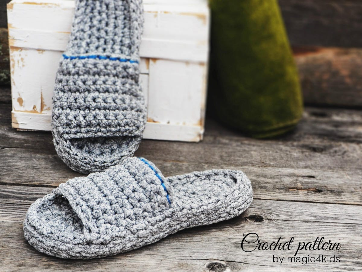 Crochet Pattern Women And Men Spawellness Slippersall Etsy