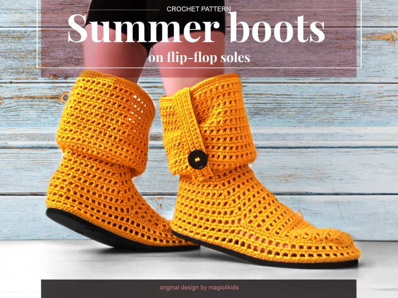 64c576e3aed9e CROCHET PATTERN- Summer women boots on flip-flop soles,slippers,all women  sizes,loafers,adult sizes,girl,fillet,young,outdoor,shoemaking