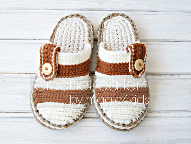 a4229b3dcab7 Crochet pattern men clogs with rope solessoles pattern