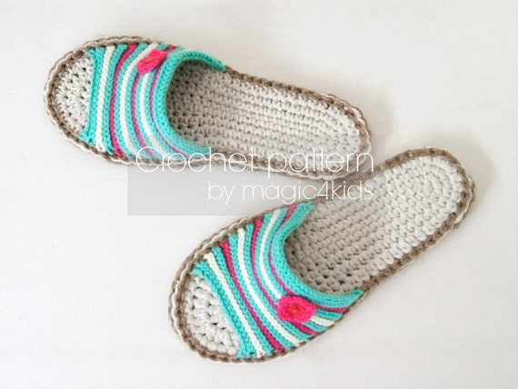f1486a463fce4 Crochet pattern-sandals with jute rope soles,slip-ons,slippers,flip-flops  l,scuffs,shoes,loafers,women sizes,adult,girl,footwear,cord,twine