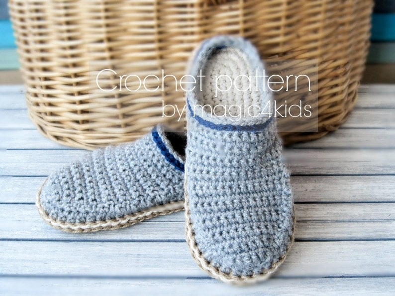 f4bebcb2783f Crochet pattern TODDLER CLOGS with rope solesfor 1 yo up to