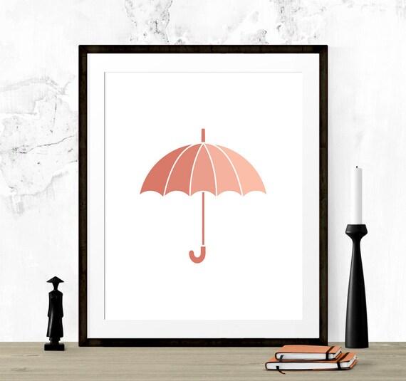 photo regarding Printable Umbrella named Coral Peach Umbrella Print, Umbrella Printable, Umbrella Wall Artwork, Coral Artwork Print, Nursery Printable, Printable Artwork, Coral Nursery Print