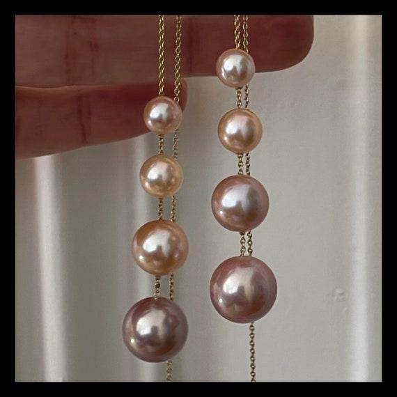 The Edith Pearl Threader Earrings.