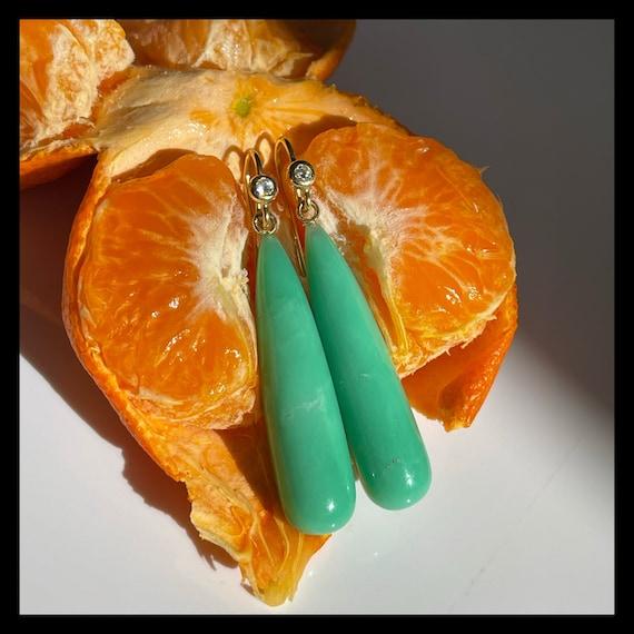 The Agnes Chrysoprase Earrings