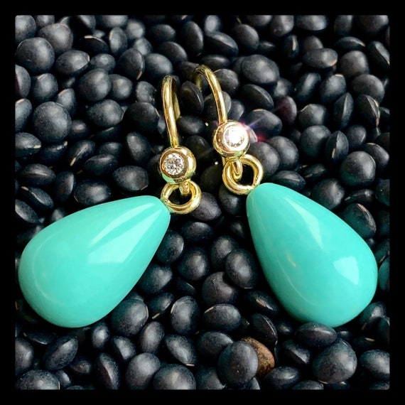 The Agnes Earrings with Turquoise