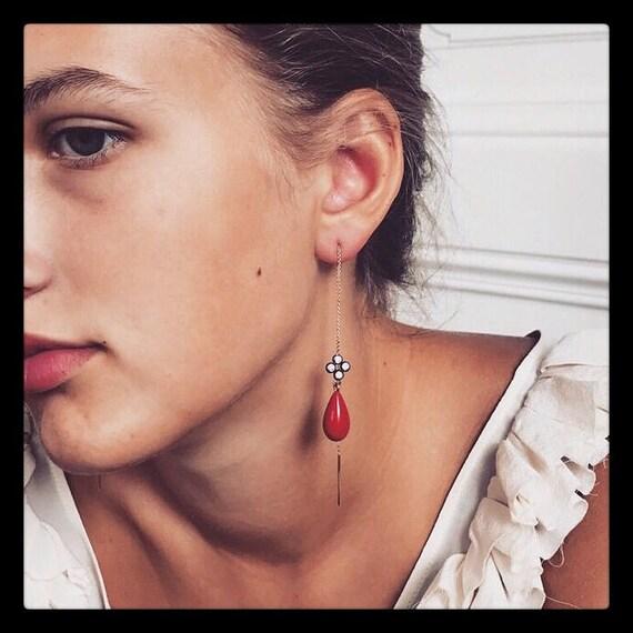 Sold! Elisabeth l Thread Earrings