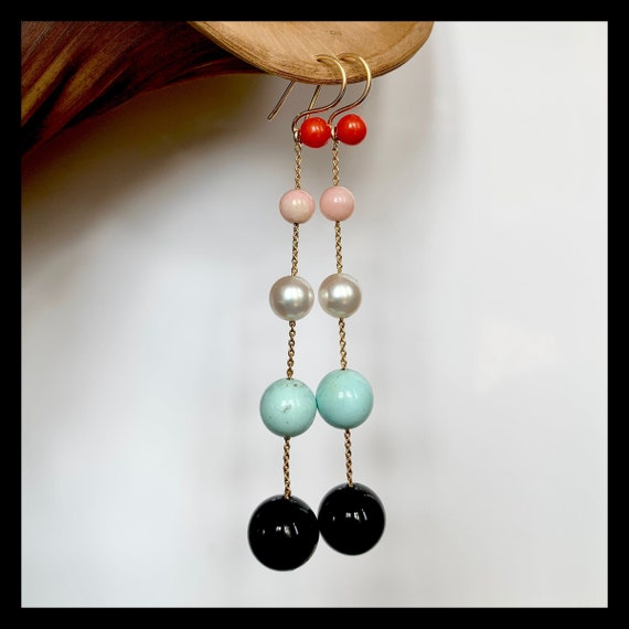 The Viola Earrings with Turquoise
