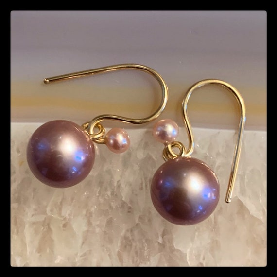 The Karla Earrings with Ming Pearls