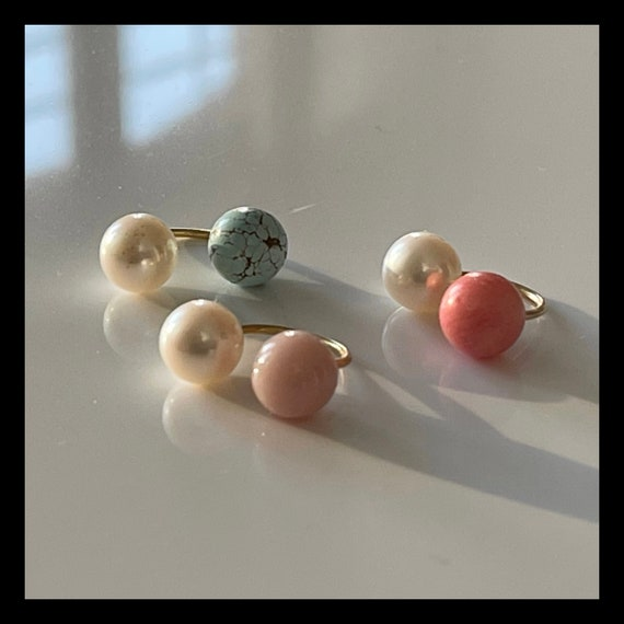 The Rosa Ear Cuff with Gem and Pearl.