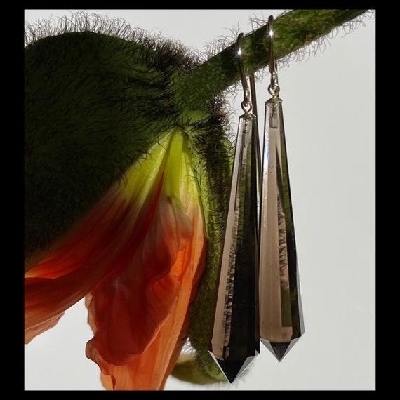 The Smokey Quartz Crystal Earrings