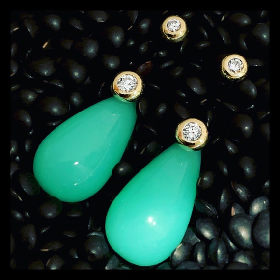 The Karoline Chrysoprase Earrings (currently sold out)