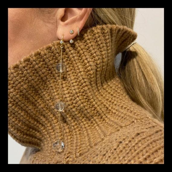 The Viola Crystal Earrings