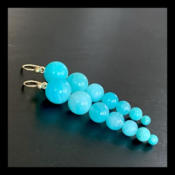 The Amazonite Doris Earrings