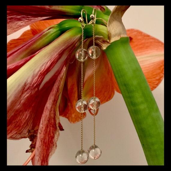 The Violet Crystal Earrings