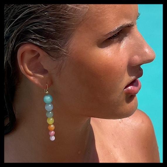 The Rainbow Doris Earrings (Blue)