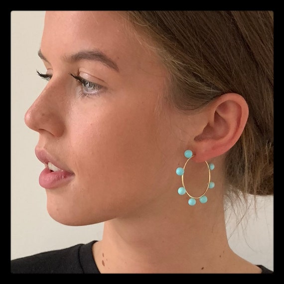 The Turquoise Sarah Hoops