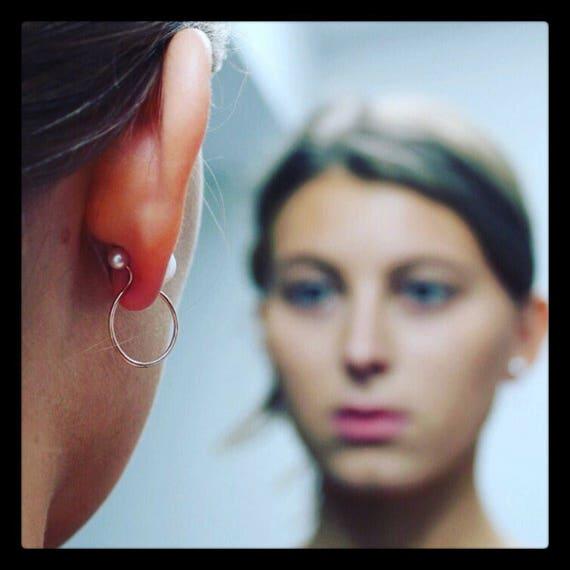 Carlota Freshwater Pearl Hoops Earrings