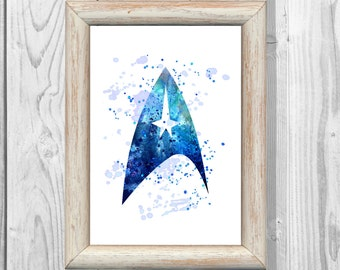 Star Trek Poster Watercolor Space Print   Wall Illustrations Art Print  Wall Decor  Home Decor Instant Digital Download