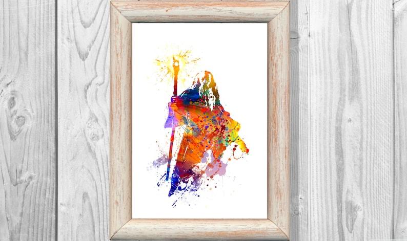 Gandalf Niños Lo Hobbit Anillos Home Decor Digital Arte Imprimir Acuarela Print Señor Pared De Descarga Decoración Cartel Poster uPikXZ