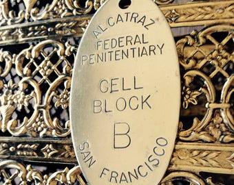 Alcatraz San Francisco Brass Keychain Lowell Sigmund