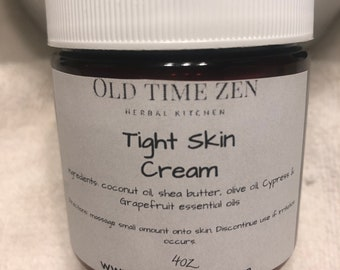 All Natural Vegan Tight Skin Cream with Essential Oils