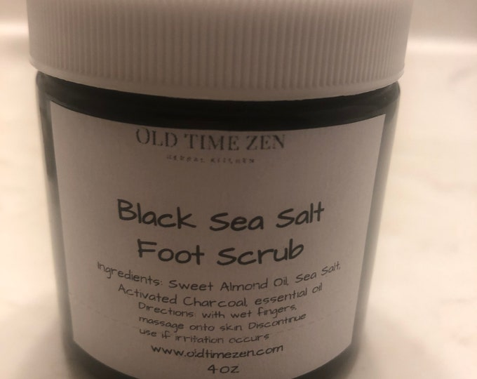 Black Sea Salt and Frankincense Scrub
