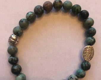 Jasper Healing Bracelet with Tree of Life Charm