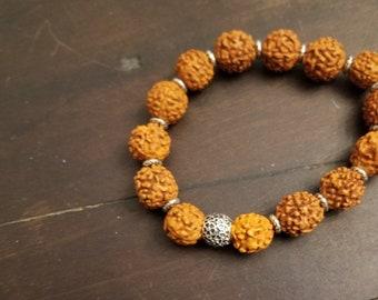 Rudraksha Seeds Healing Bracelet Meditation Bracelet Yoga Bracelet