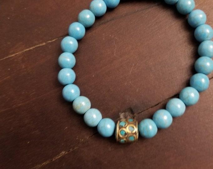 Turquoise Healing Bracelet Meditation Bracelet Yoga Bracelet