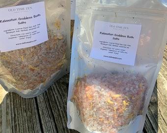 Natural Bath Salts ~ Dead Sea Salts ~ Pink Himalayan Salts ~ Herbals ~ Essential Oils ~ Relaxation Goddess