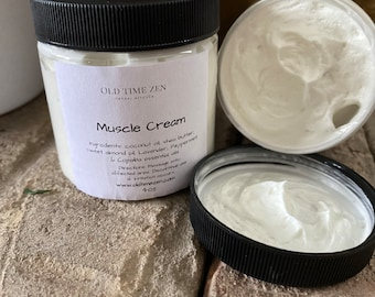 Muscle Pain Cream with Essential Oils- All Natural & Vegan