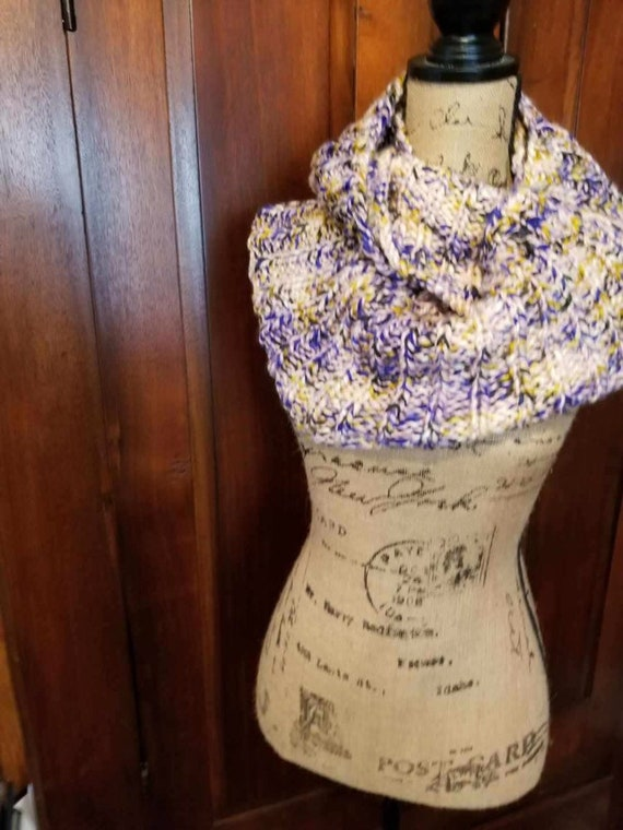Hand Knitted Long Cowl