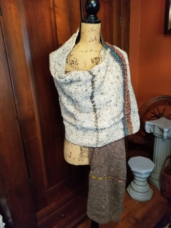 Outlander Style Hand Knitted Shawl