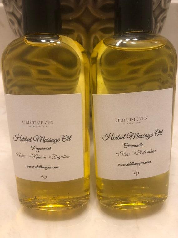 Peppermint Herbal Massage Oil