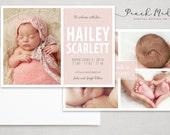 DIY - Birth Announcement   Photo Templates   Design 001
