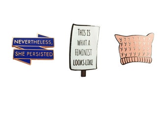 Sigmund Freud and Mom Enamel Pin Set Unique Colored Metal Lapel Pins 2 Pack New