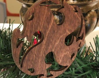 12 Days of Christmas Four Calling Birds Wooden Ornament