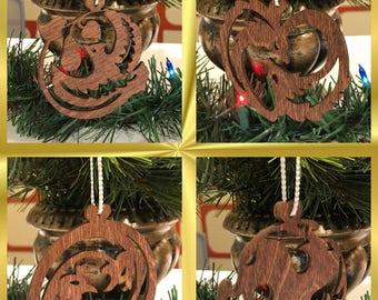 12 Days of Christmas Wooden Ornaments, Full Set   Christmas Ornament   Wooden Ornament