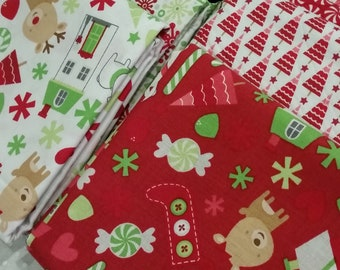 Home for the Holidays by Doodle Bug Designs for Riley Blake Designs -Fat Quarter Bundle of 9