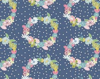 Daisy Days by Keera Job for Riley Blake Designs c6282 navy