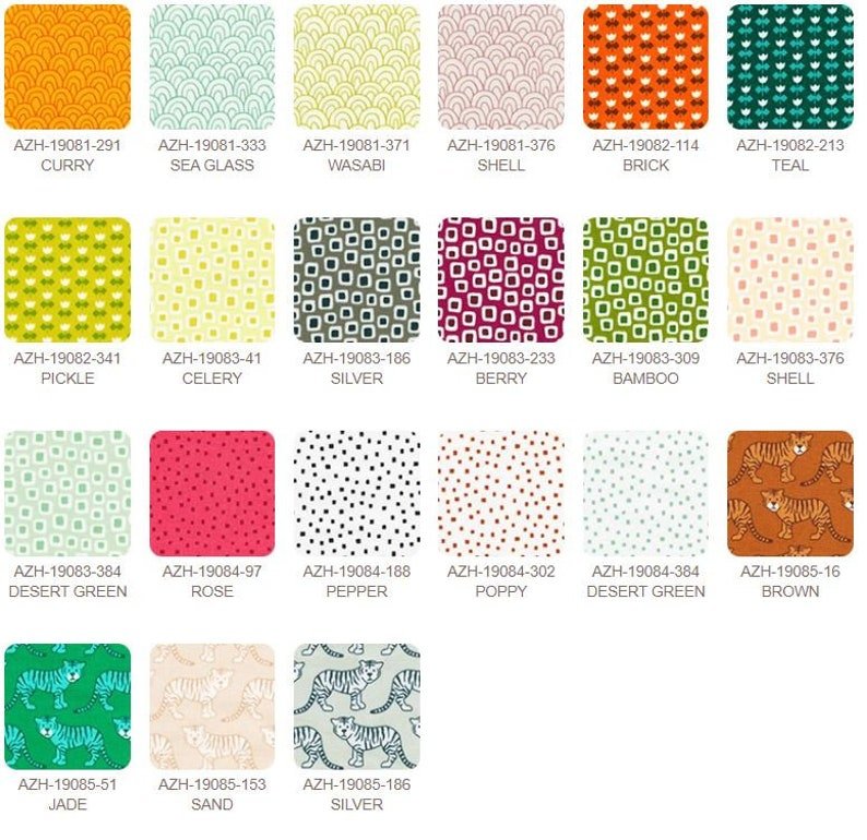 Library Fabric Collection Fat Quarter Bundle 21 pc by Elizabeth Hartman for Robert Kaufman
